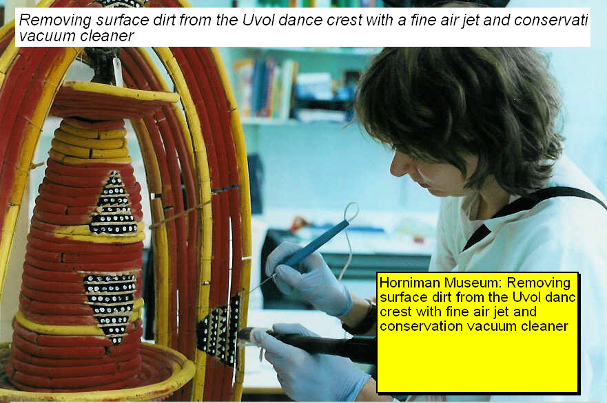 Conservation of a Uvol Dance Crest, Horniman Museum