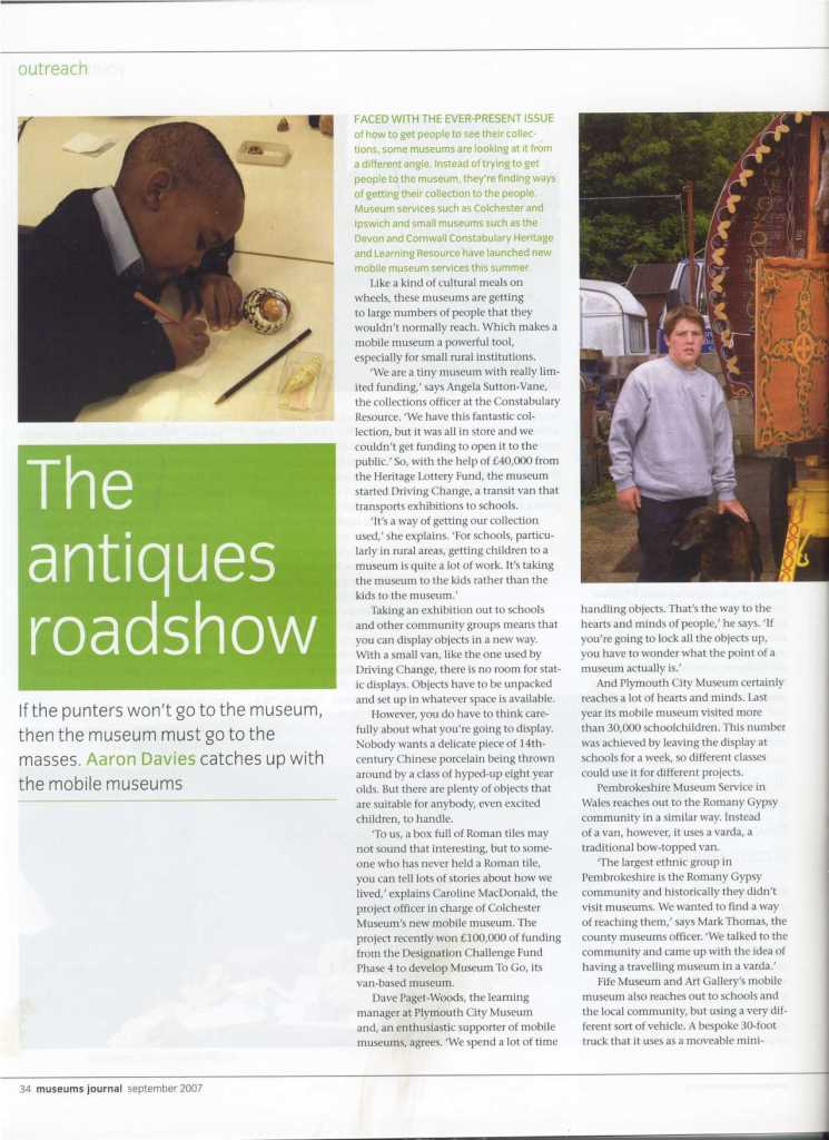 Museum Journal article - The Antiques Roadshow