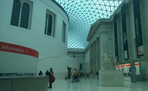 photograph of the central court at the British Museum