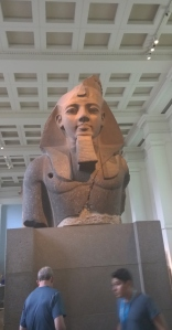 Colossal statue of King Rameses II from Egyptian Western Thebes; British Museum; photograph by Angela Sutton-Vane 2015