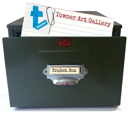 Card index box with Towner Art Gallery index card