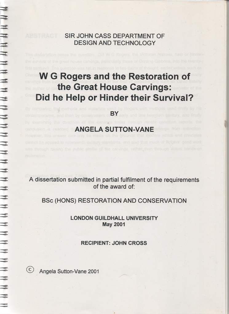 Image of report by Angela Sutton-Vane; click over image to open a PDF file