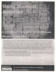 Using Museum Archives flier