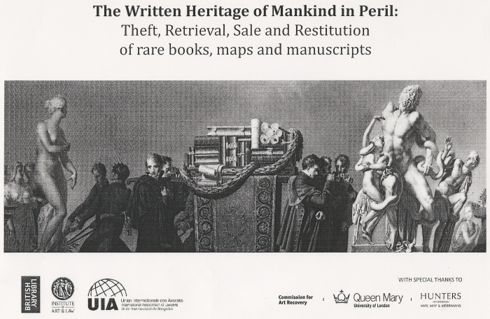 The written heritage of mankind in peril; conference poster