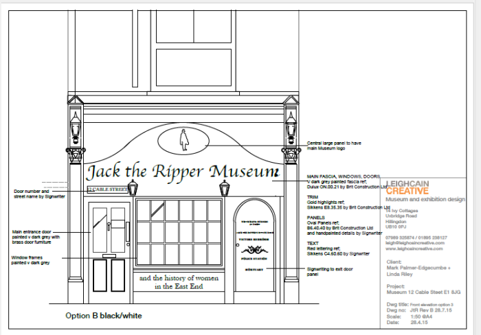 Jack the Ripper Museum; revised drawing for resubmitted planning consent; from: http://planreg.towerhamlets.gov.uk/WAM/showCaseFile.do;jsessionid=F0537C65EBDDCB852984059203F7B948?action=show&appType=Planning&appNumber=PA/15/02127