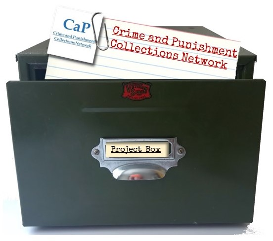 Image of card index box with card for the CaP project