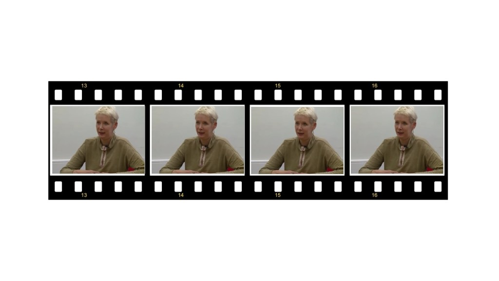 Image of film strip showing PPCP interview